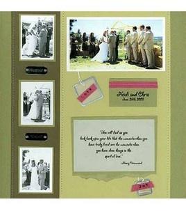 Wedding Scrapbook Page: Scrapbooking Projects: Shop | Joann.com