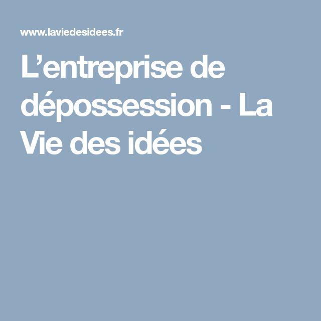 L'entreprise de dépossession : le modèle de modernisation managériale par Danièle Linhart #managementparticipatif
