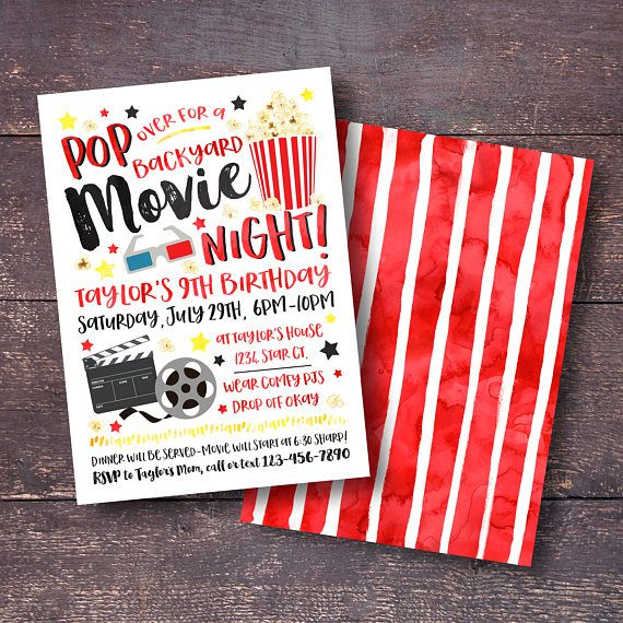 The 25+ best Movie night invitations ideas on Pinterest Movie - movie night flyer template
