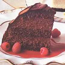 Godiva Chocolate Raspberry Mousse Truffle Cake With Raspberry Cassis Sauce