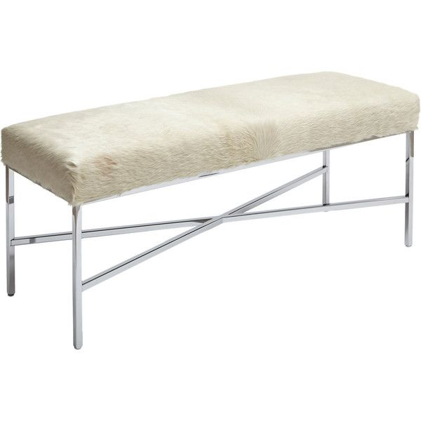Barneys New York Cowhide Bench ($1,995) ❤ Liked On Polyvore Featuring Home,  Furniture