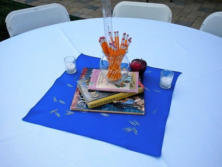 teacher retirement centerpieces party ideas