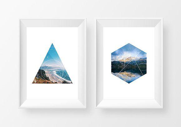 30 Geometric Photo Masks by Dreamstale on @creativemarket