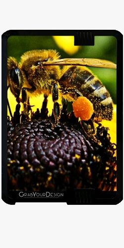 Case for Amazon Kindle Fire HD - Bee on a yellow flower - by PINO