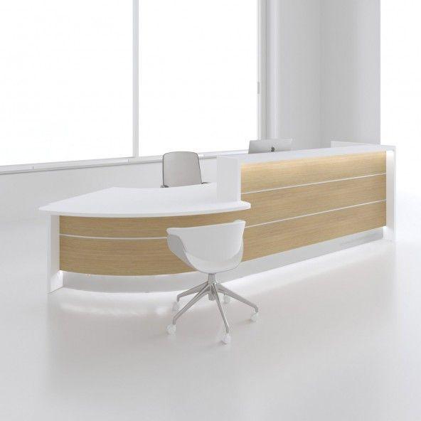 Valde Left Countertop Curved Large Reception Desk Canadian Oak Buy