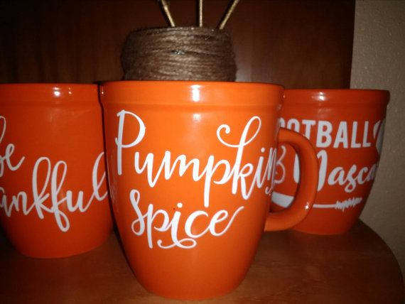 Check out this item in my Etsy shop https://www.etsy.com/listing/476087454/exta-wide-orange-coffee-cup-with-vinyl