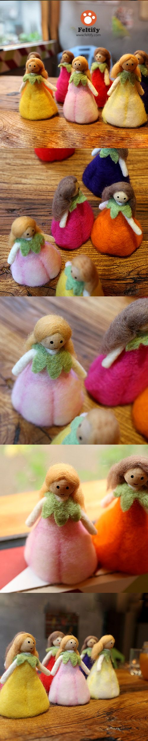 Handmade Needle felted felting project christmas ornament fairy mother queen…