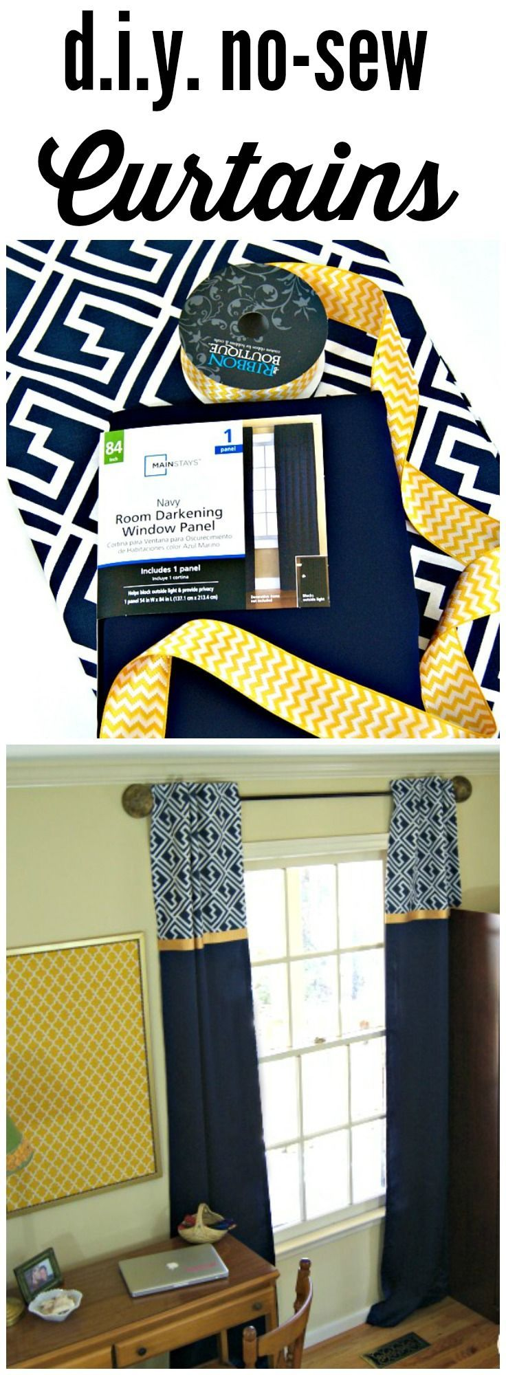 FABULOUS tutorial for DIY Window Curtains! Add these inexpensive window treatments to your home decor! by 3 Little Greenwoods for Designer Trapped in a Lawyer's Body!