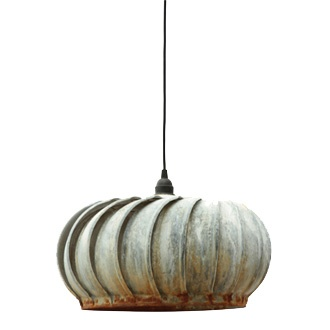 Terrain's Air Vent Pendant Light: Vintage repurposed turbine roof ventilators