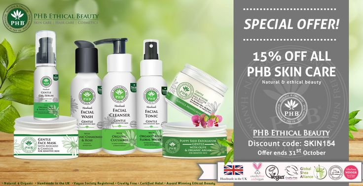 PHB Ethical Beauty Natural, Organic, Vegan & Cruelty Free Skin Care & Cosmetics Handmade in the UK Halal Certified