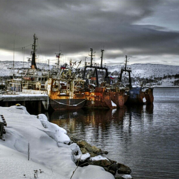 Russian boats at kirkenes - @itsfrankenstyle- #webstagram