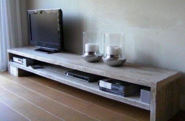 Woonkamer Ideeen Dressoir : laag tv meubel voor over de hele lengte ...