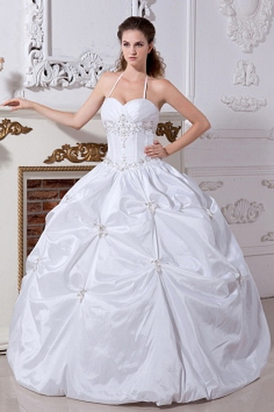 Halter Ball Gown Taffeta Wedding Gowns wr0222 - http://www.weddingrobe.co.uk/halter-ball-gown-taffeta-wedding-gowns-wr0222.html - NECKLINE: Halter. FABRIC: Taffeta. SLEEVE: Sleeveless. COLOR: White. SILHOUETTE: Ball Gown. - 135.59