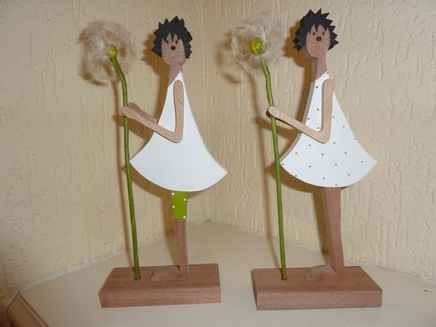 Задыхаясь Цветок - Деревянные Фигуры