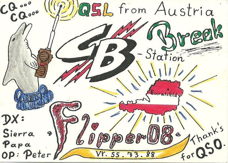 Austria firs QSL  FM  5/5 20-04-1987  CB-start