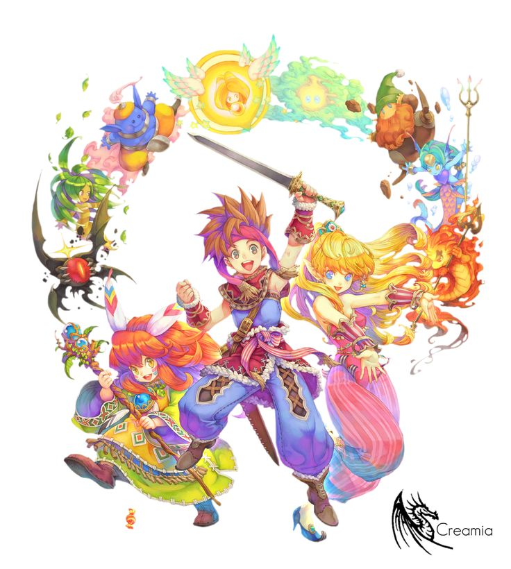 Secret of Mana with Magic Elements