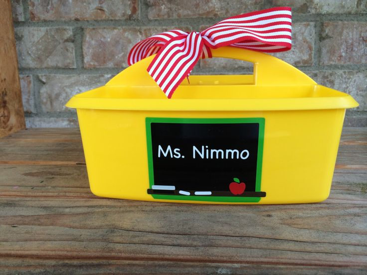 Personalized School Supplies Caddy - FREE SHIPPING!!! by HappyToz on Etsy https://www.etsy.com/listing/228727529/personalized-school-supplies-caddy-free