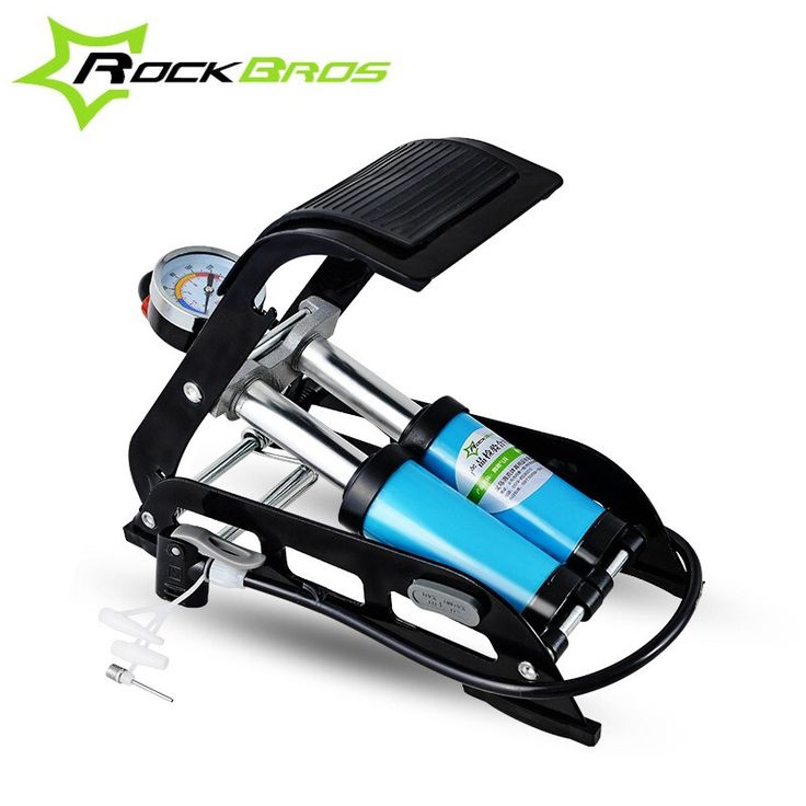 Check out this product on Alibaba.com APP ROCKBROS Cycling Double Cylinder Foot Pump Inflator Pump for Cars Motorcycle Ball Boat Swim-ring Bicycle Pump