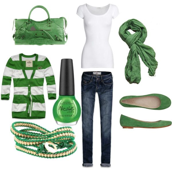 """St. Patty's day outfit!"" by ashlee272 on Polyvore"