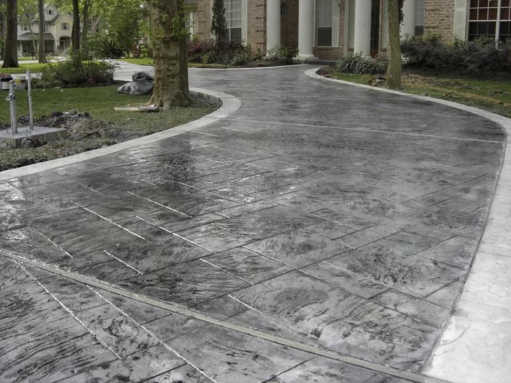 38 best stained concrete ideas images on pinterest acid for Acid wash concrete driveway