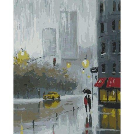 Картина по номерам акриловыми красками Рисуем дождь ...