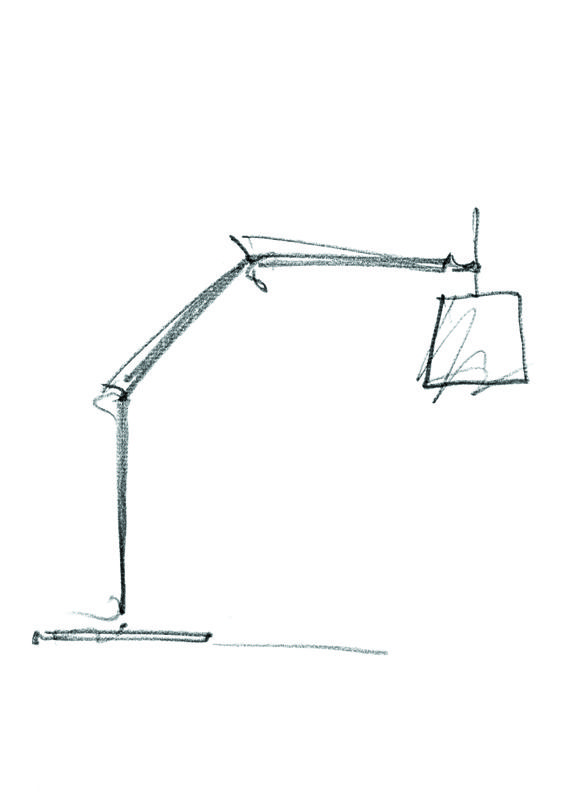 Simple lines for what is unquestionably a design icon!  #Tolomeo Mega Terra #design Michele De Lucchi & Giancarlo Fassina #sketch