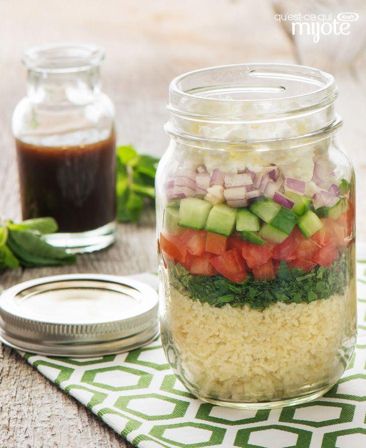 Salade taboulé étagée dans un pot #recette