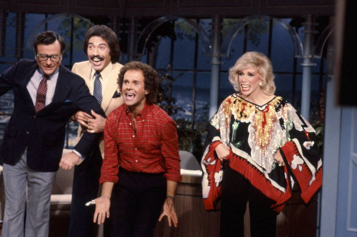 With (from left) Mark Russell, Tony Orlando, and Richard Simmons on The Tonight Show.