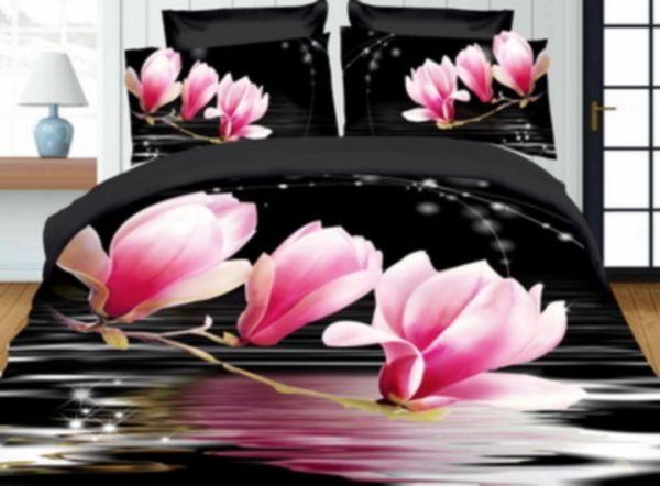 Ružový kvet posteľné návliečky z mikrovlákna