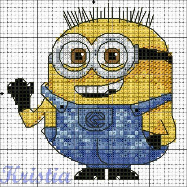 Minion. Cross stitch pattern 2