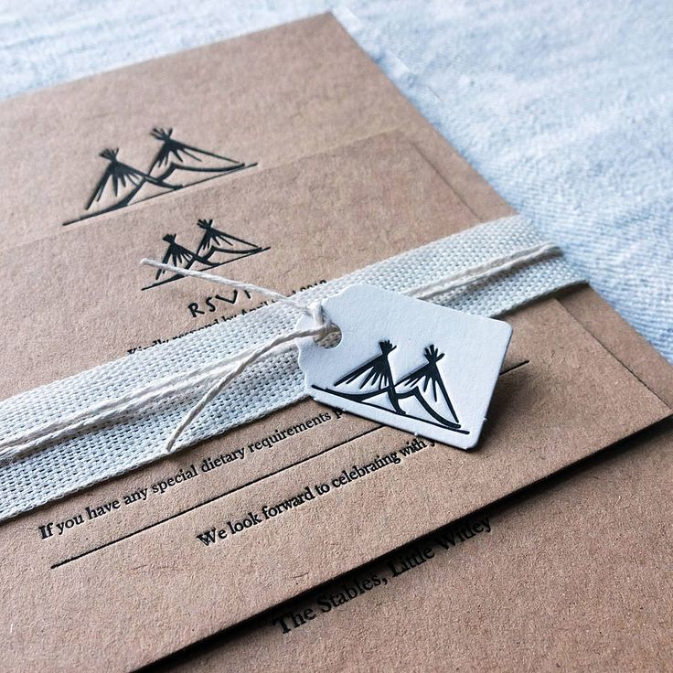 Personalised Letterpress Wedding Invitations - natural recycled products and hessian wrap from Wolf & Ink