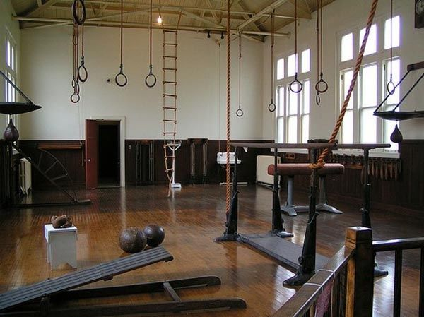 Best old school gym images on pinterest basement