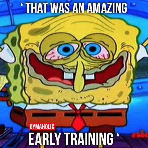 That Was An Amazing Early Training: