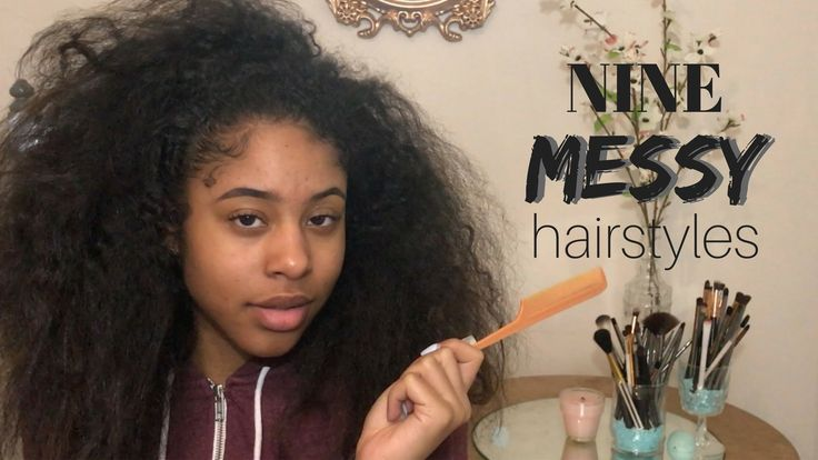 NINE messy OR curly QUICK & EASY hairstyles | Isis Aryon – YouTube