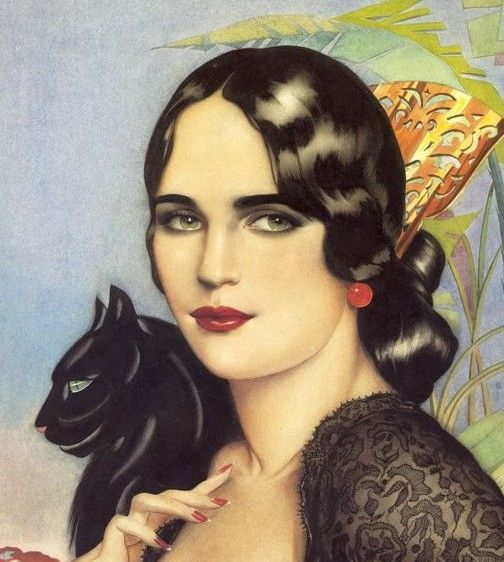 Alberto Vargas - Spanish Gypsy, 1928 http://www.pinterest.com/mscellanea/flamenco-paintings/