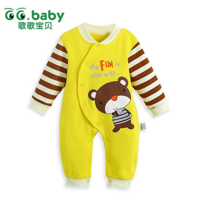 Novorozené chlapce dívky Rompers s dlouhým rukávem Bavlněné oblečení Romper dítě Kombinéza Pro malé děti Unisex Animal Infant Boy Girl Oblečení