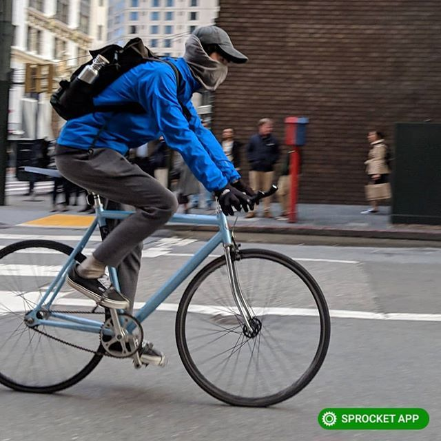 2019 Fuji Cr-Mo fixie w cages 'n straps in #SF #MarketStreet