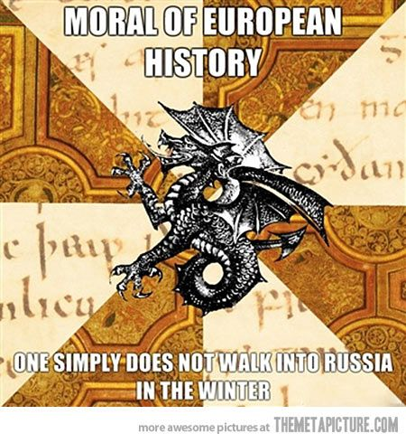 Moral of European history…for serious though if you're trying to conquer Europe that is the worst idea.