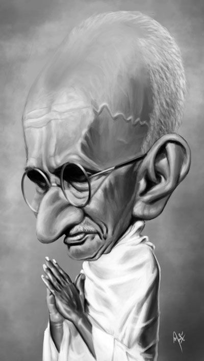 Gandhi by crueniaone on deviantART