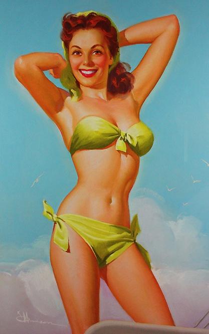 *Pinup...Ship Shape  Artist:K.O. Munson  Date:1940s - 50s: Munson Pinup, Pinup Artists, Retro Pinup, Vintage Pinup, Vintage Pin Up, Pinup Girls, Classic Pin, Beautiful Pinup, Pin Up Girls