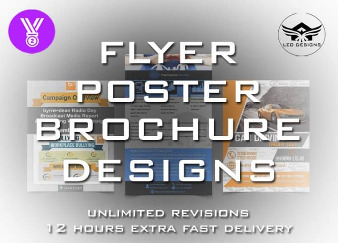 create an amazing flyer,poster,leaflet designs