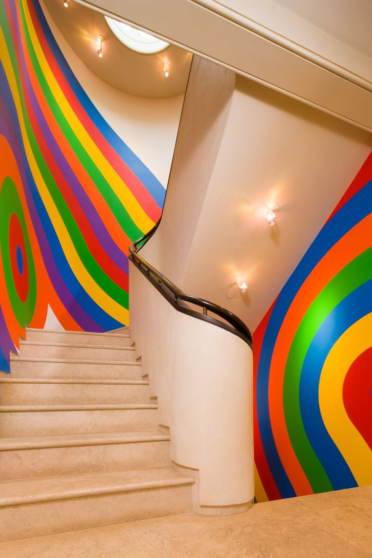 Vibrant multi-colored hallway (Aspen, Colorado | Shane Aspen Real Estate)