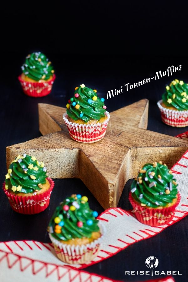 Muffin Tannenbaum.Tannen Muffins Chai Muffins Mit Tannen Frosting Reisegabel