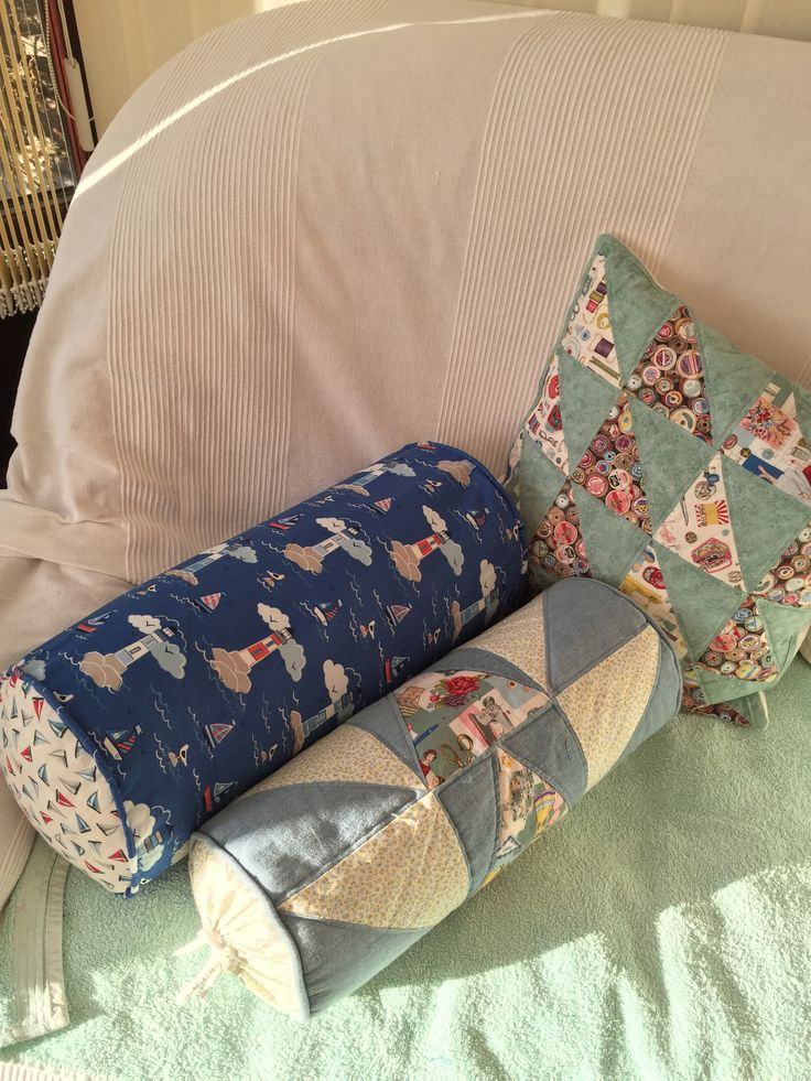 Patchwork cushions made by me