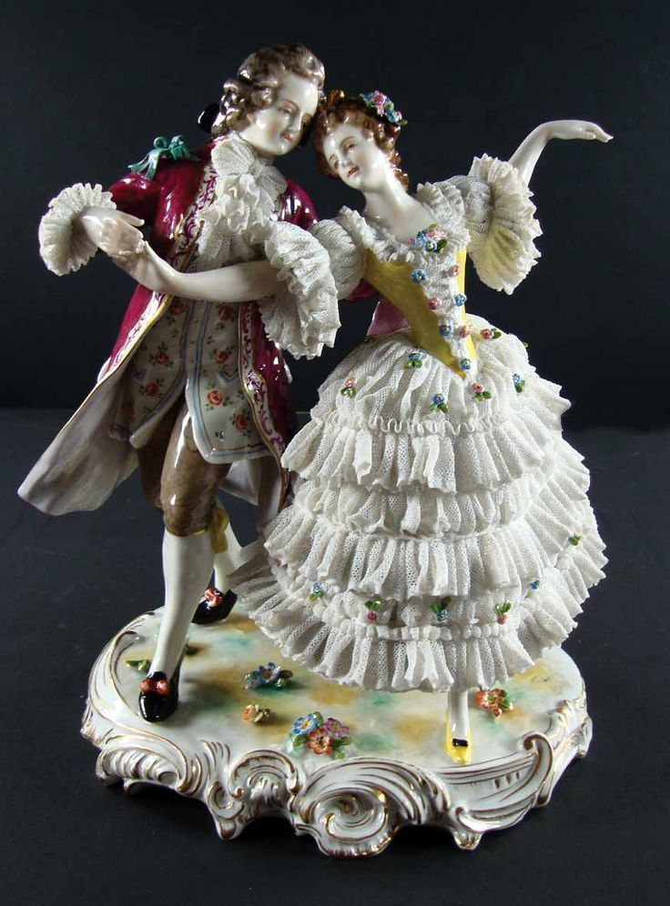 314 Best Porcelain Lace Draped Figurines Images On