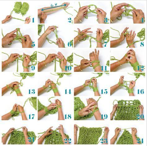 Tricoter avec les bras! http://www.creacorner.be/idees-creatives/tricoter-les-bras-aiguille