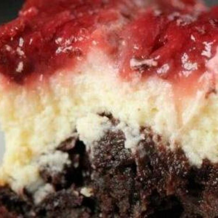100% Whole Grain Strawberry Cheesecake Brownies Recipe | Just A Pinch Recipes | See more about cheesecake brownies, strawberry cheesecake and brownie recipes.