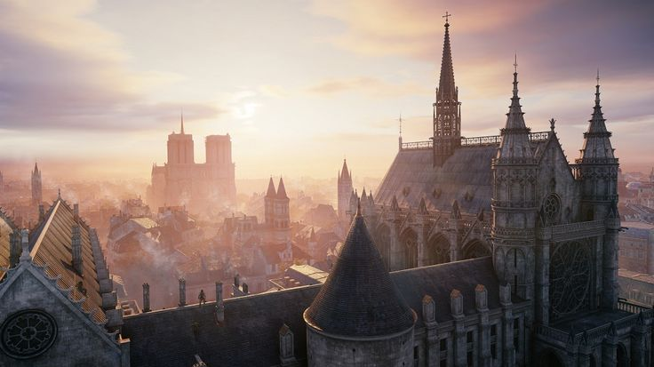 The Paris skyline from Ubisoft's Assassin's Creed Unity (Image from http://blog.ubi.com/assassins-creed-unity-9-things-need-know/  © Ubisoft)