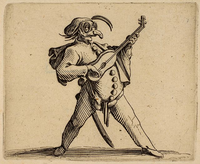 Jacques Callot. Punchinello Figure. French 1616. etch. 6.4 x 7.8 cm. Met. Mus. | Flickr - Photo Sharing!