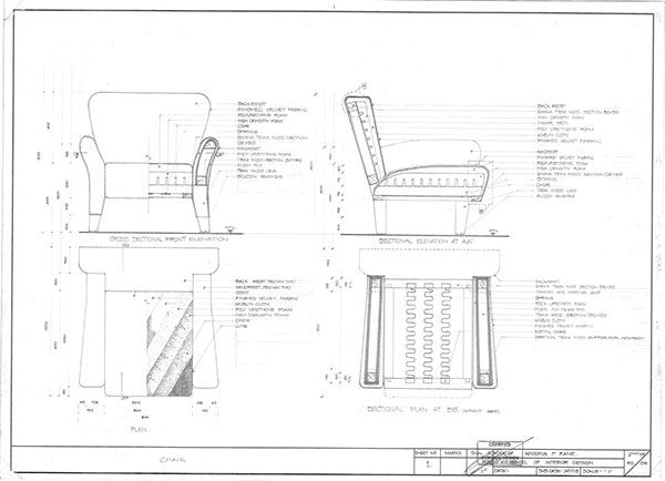 Sofa construction drawing google search interior pinterest construction upholstery and for Construction drawings and details for interiors